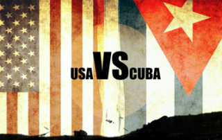 USA vs. CUBA FLAGS